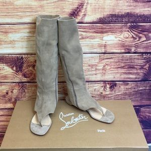 Christian Louboutin NIB From Sand Flat Suede Boots